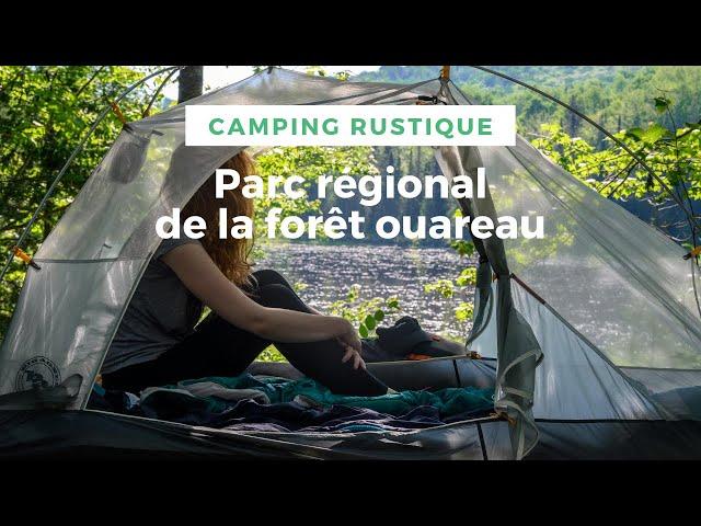 ⛺ CAMPING RUSTIQUE au Parc régional de la forêt Ouareau : on fait que de bouffer ! #BioLite