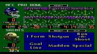 Madden NFL 96 sur Megadrive