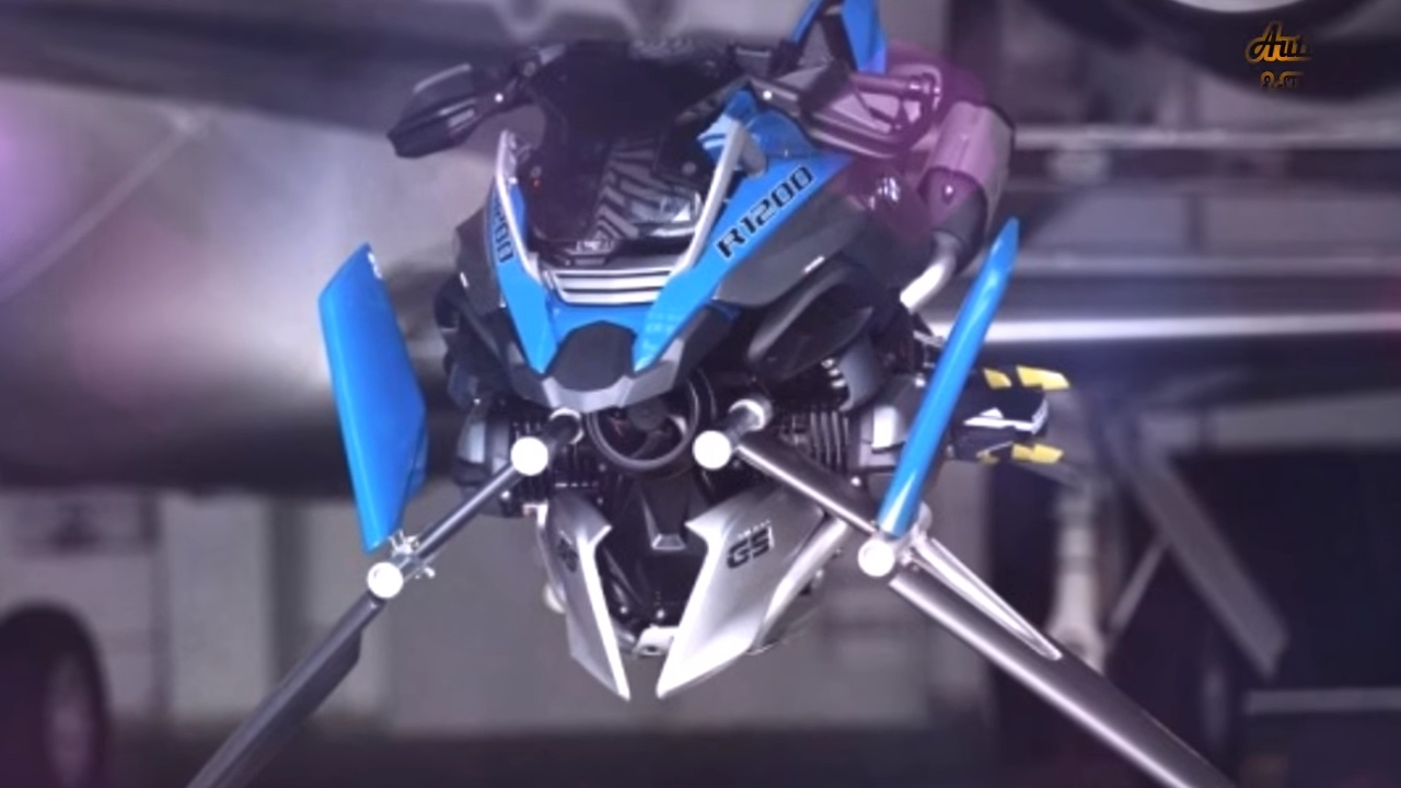 flying motorcycle concept ! hover bike ! g1200 gs ! bmw lego bikes