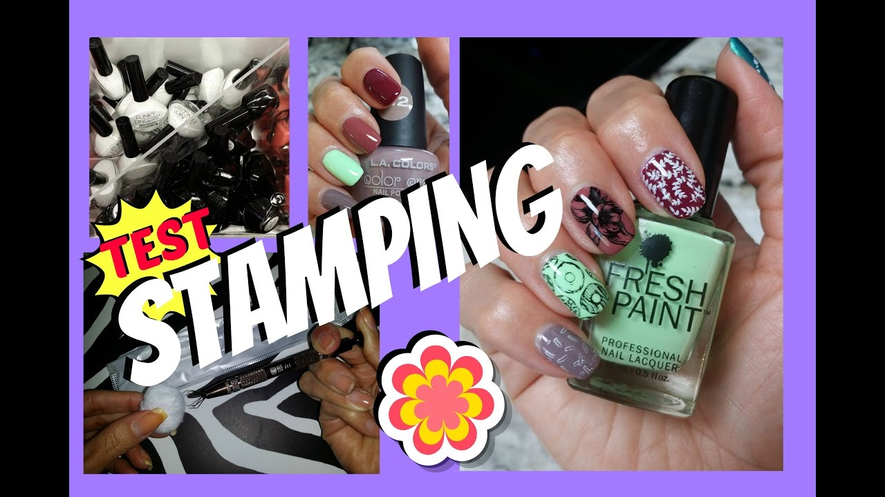 Review Funky Fingers Stamping Polish - Five Below || LaShenny21Nails ...