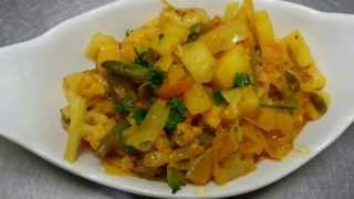 Mix Vegetable Dry  -indian Restaurant Cooking - Indian Cooking - Indian Recipe - Pabda20