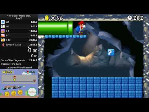 New Super Mario Bros  - 8-2: Any% in 0m 43s* by MoistenedWah