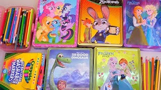 Speed Coloring Zootopia, Frozen Anna and Elsa, My Little Pony (MLP), and The Good Dinosaur | SWTAD thumbnail