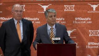 Tom Herman introductory press conference [Nov. 27, 2016]