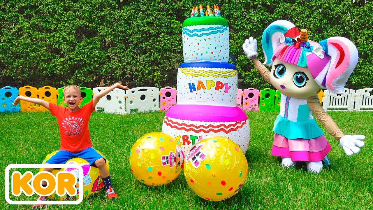 블라드와 니키 놀이와 거대한 계란 장난감으로 놀라게