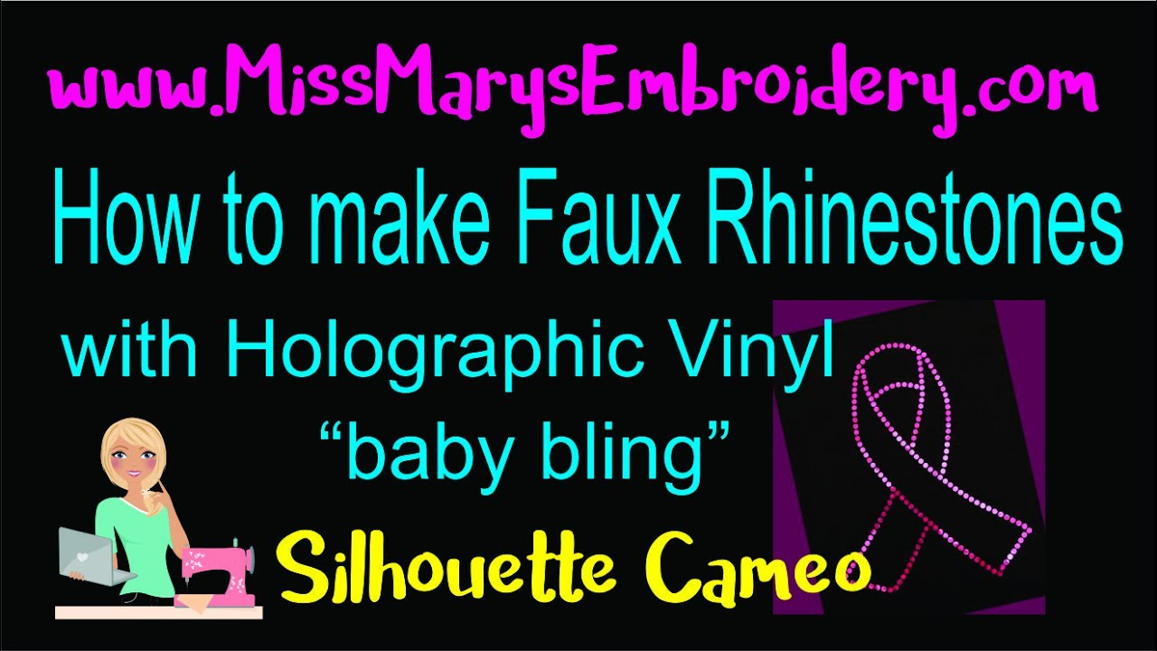 Faux Rhinestones Baby Bling With Holographic Vinyl Youtube