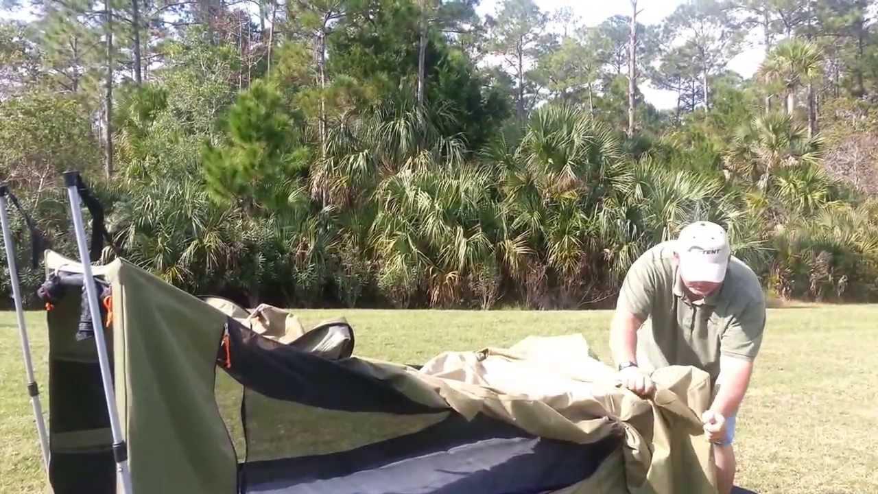 & Jet Tent Bunker Cot Set Up - YouTube