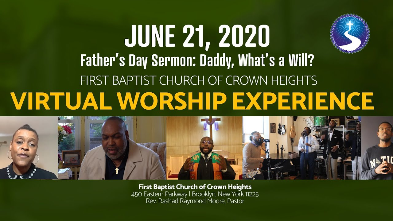 June 21, 2020: Father's Day Virtual Worship Service