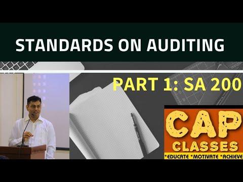 STANDARDS ON AUDIT PART 1   CAP CLASSES