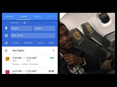 $99 Primera Air flight Boston To London flight review. A321 NEO