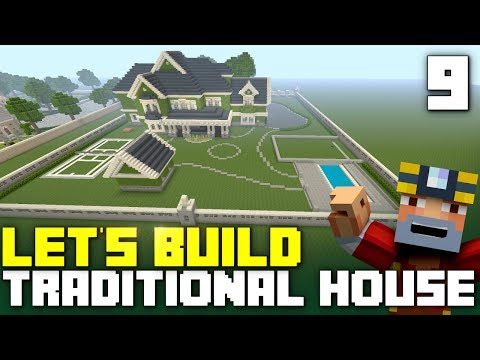 Minecraft Xbox One: Let's Build a Traditional House! (Part 9)