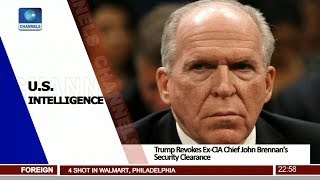 Trump Revokes Ex-CIA Chief John Brennan's Security Clearance 15/08/18 Pt.4 |News@10| thumbnail