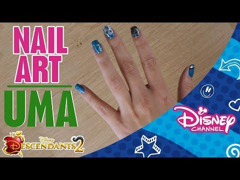 Descendants 2 | Nail Art Tutorial | Uma | Official Disney Channel Africa thumbnail