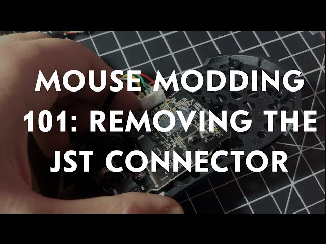How to properly remove a mouse cable from any mouse! Removing the JST 2.0 Connector when paracording