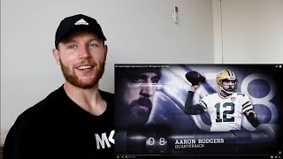 Rugby Player Reacts to AARON RODGERS (QB, Packers) #8 The NFL's Top 100 Players of 2019!