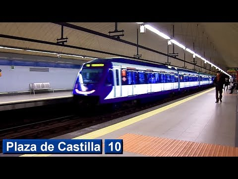 Plaza de Castilla L10 : Metro de Madrid ( Serie 7000 )