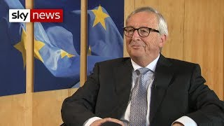Juncker: No-deal Brexit means hard border in Ireland