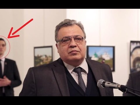 The moment when Russian ambassador to Turkey Andrey Karlov  Shot Dead in Ankara