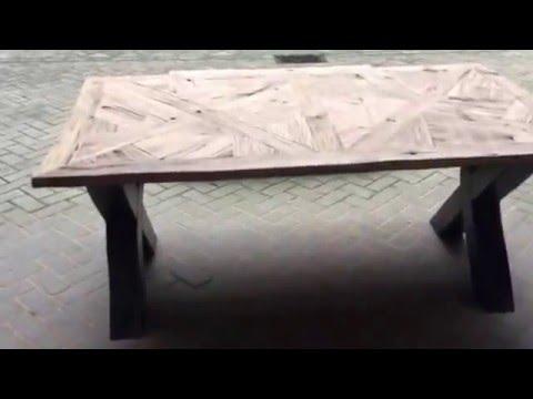 Eetkamertafel Met Ingelegd Blad.Industriele Robuuste Stoere Eettafel En Salontafel Met Een Uniek