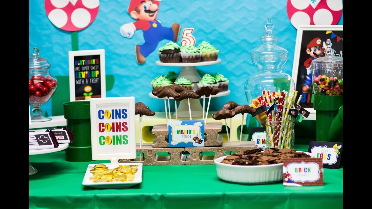 Super Mario Birthday Party Supply Haul YouTube