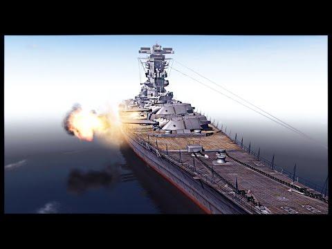 Biggest Battleship Ever Built - IJN Yamato vs USS Iowa | Men of War Assault Squad 2 Mod Gameplay