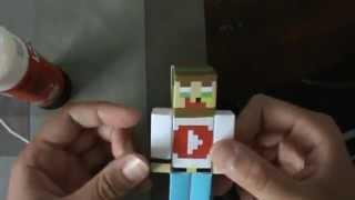 Como hacer tu skyn de minecraft de papel | PaperCraft