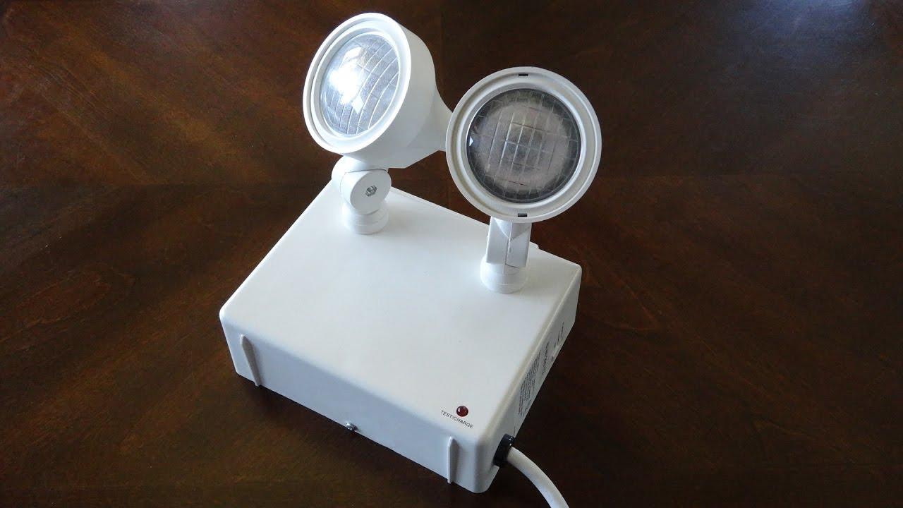 Cooper Lighting Portable Emergency Light Fixture & Cooper Lighting Portable Emergency Light Fixture - YouTube