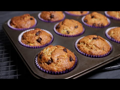 How To Make Banana Muffins With Chocolate