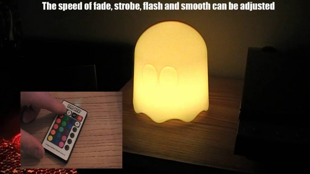 Lamp With Remote Ghost Changing Led Control Pac Man Colour SMzVpU