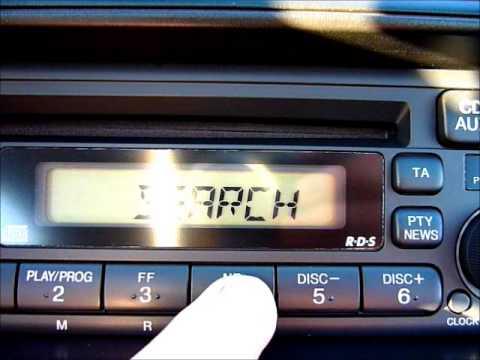 Oem Honda Cd Player Radio Pioneer Youtube