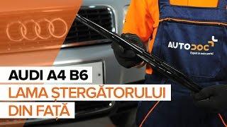 Cum se inlocuiesc lamele ștergătoarelor din față pe AUDI A4 B6 Tutorial | Autodoc
