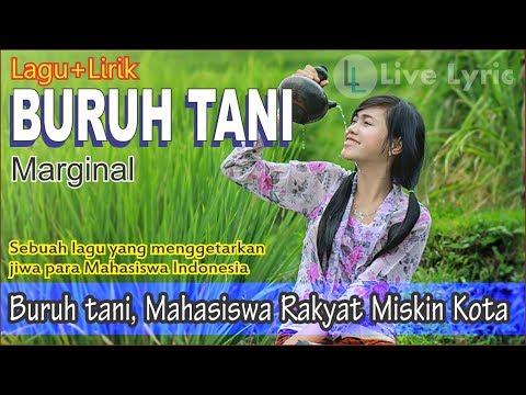 BURUH TANI - Marginal Plus Lirik (Lagu Mahasiswa Menggetarkan Jiwa)