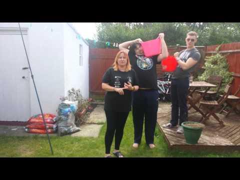 Mum and Angus' s ice bucket challenge!