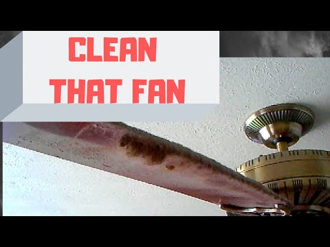 How to clean a ceiling fan without getting dust everywhere