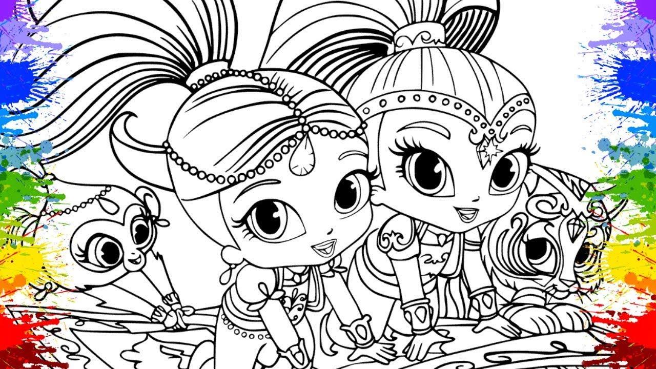 Da una vuelta por nuestra web porque aparte de ladybug para colorear tenemos miles de dibujos gratis para que puedas descargar, imprimir y pintar con la familia. DESENHO da SHIMMER E SHINE Cartoons cor paint colouring