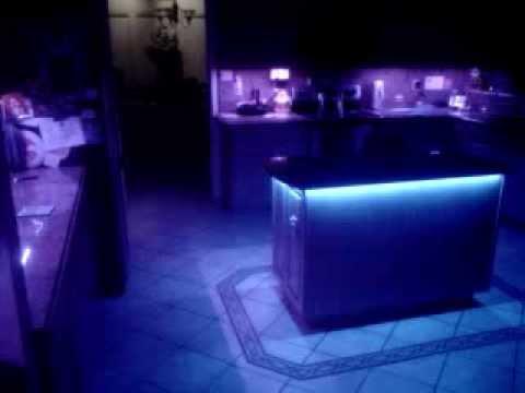 custom under cabinet multi color led lighting youtube. Black Bedroom Furniture Sets. Home Design Ideas