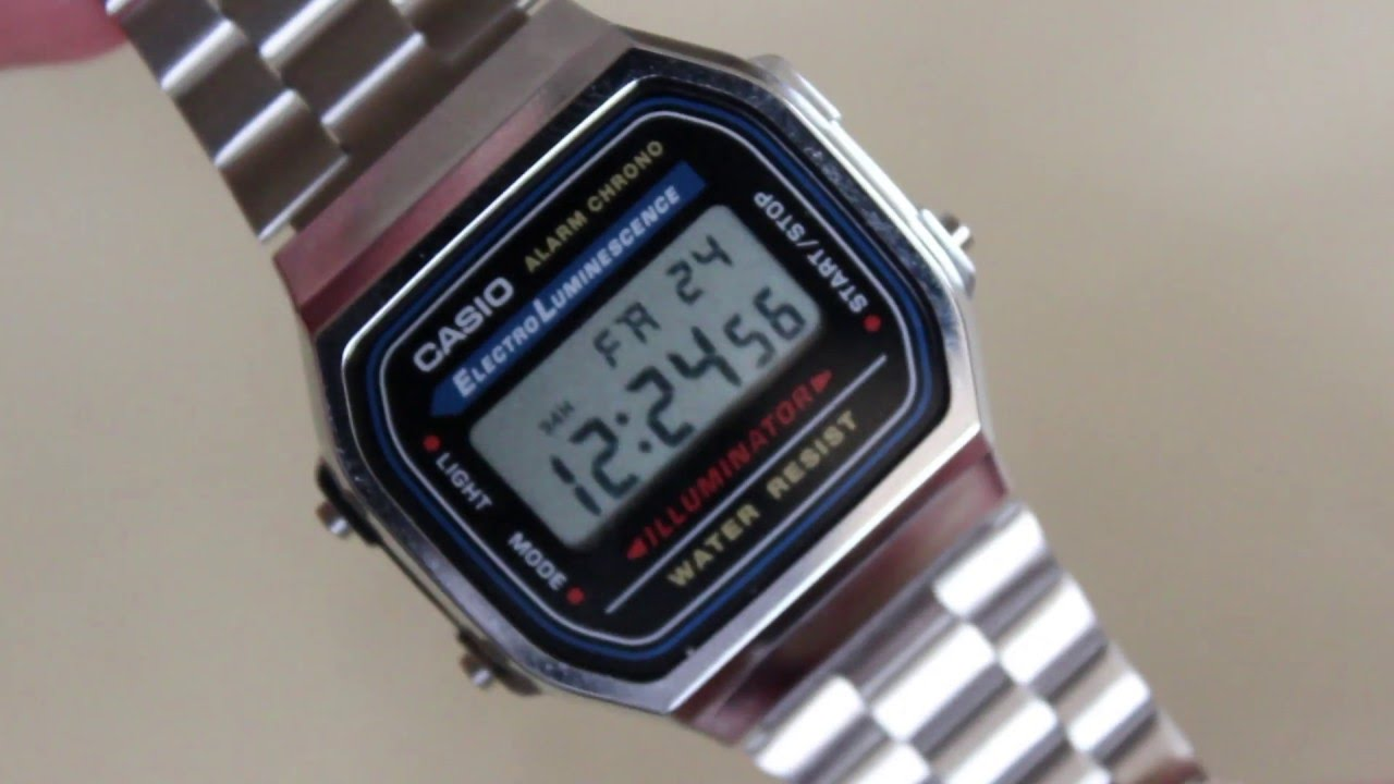709b21445b35 Casio A168W-1 Silver Watch Review and Comparison - YouTube