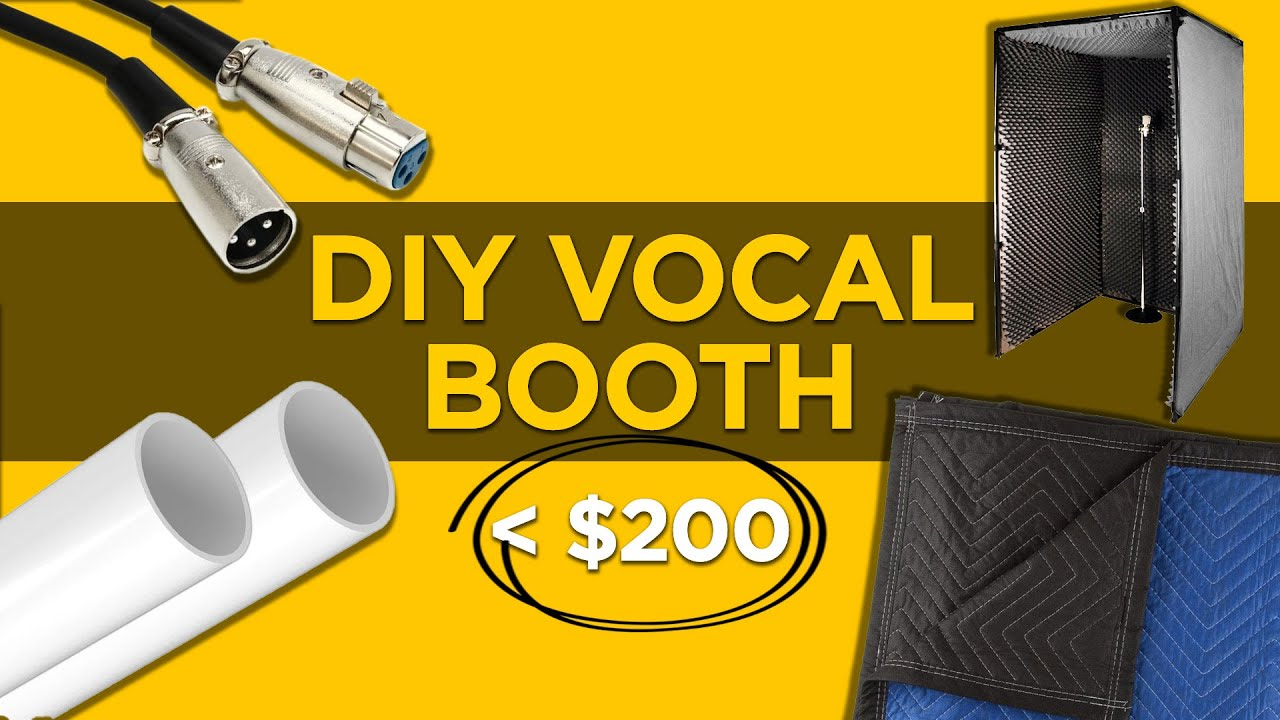 How To Build a DIY Vocal Booth For Under $200! | Build A Portable Recording Booth