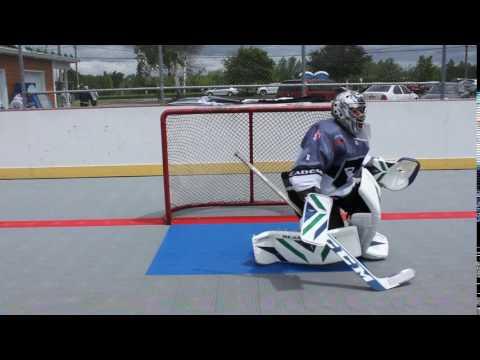 Reasony Ball Hockey Goalie Pads In Sliding Action Youtube