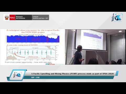 Charla: A Pacific Upwelling and Mixing Physics (PUMP) process study as part of TPOS 2020
