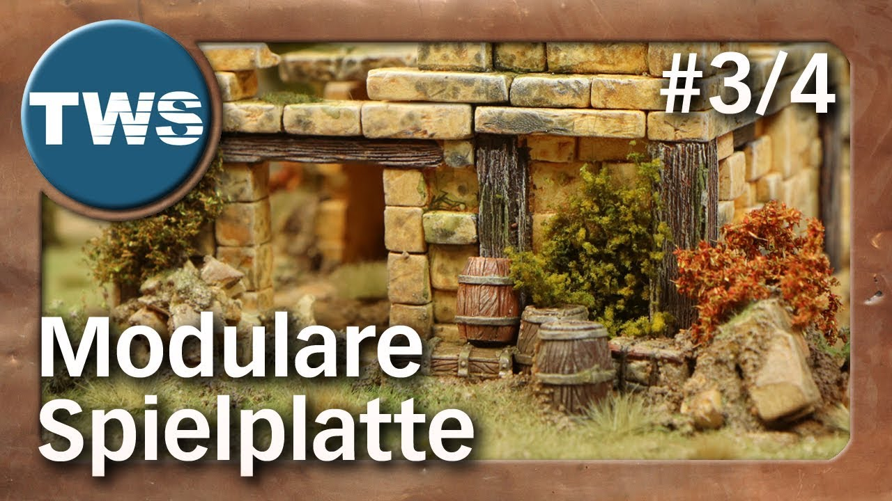 Tutorial: Modulare Spielplatte #3/4 / modular game board (Tabletop-Gelände,  TWS)