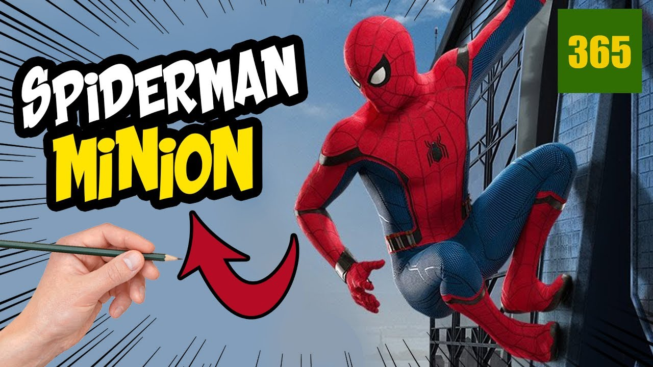 Comment dessiner spiderman homecoming style minion youtube - Dessiner spiderman ...