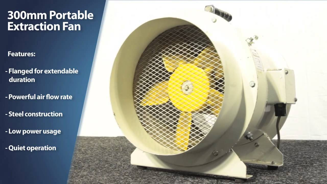 Portable Extractor Fan Active Air 300mm Portable Extraction Fan