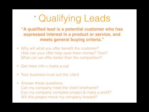 Sales 101: Lead Generation, Selling, Negotiating