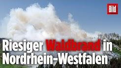 Ein ganzes Dorf wird wegen Großbrand nahe Gummersbach evakuiert