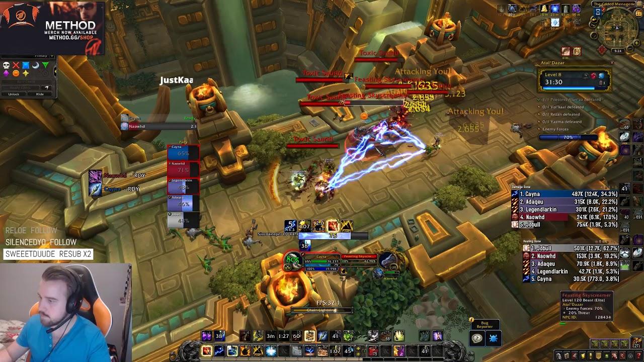 LVL 8 + 3 CHEST ATAL DAZAR | BFA BETA (Battle for Azeroth) | Method Cayna