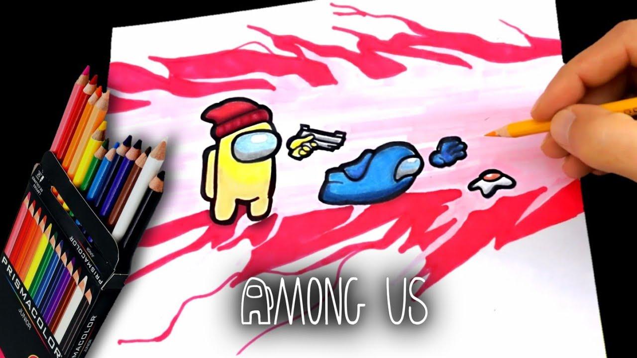 Download COMO DIBUJAR AMONG US IMPOSTOR VS TRIPULANTE | #2 | PISTOLAZO | how to draw impostor vs crewmate