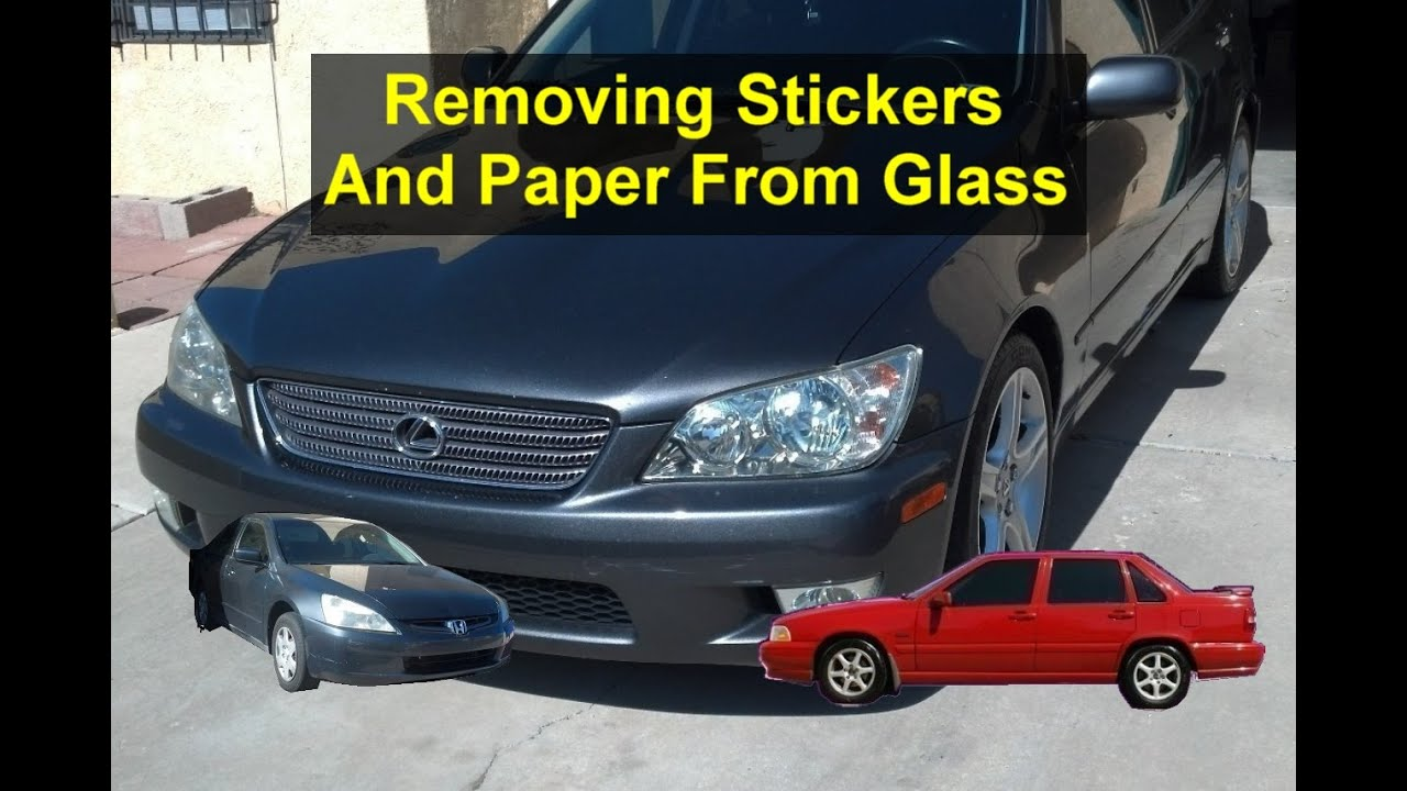 a8e5a0921b6a How to remove stickers or other things from glass