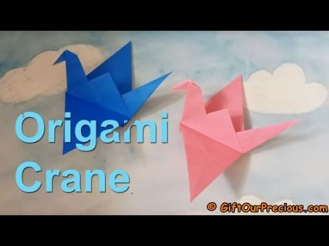 Origami Crane - Simple And Easy Origami For Kids And Everyone