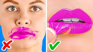 10 GENIUS MAKEUP HACKS TO LOOK AWESOME! || Beauty Hacks For Smart Girls by 123 Go! Genius
